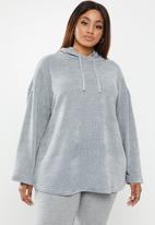 edit Plus - Knitted hoody top - grey