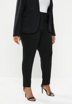 edit Plus - Tapered pant trousers (plus) - black
