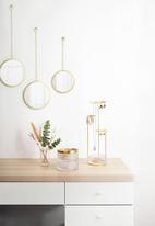 Umbra - Dima round mirror (3) brass