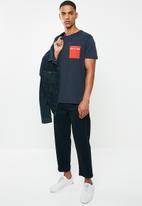 Tommy Hilfiger - Tjm contrast pocket tee - navy