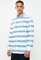 Tommy Hilfiger - Tjm branded stripe shirt - white & blue