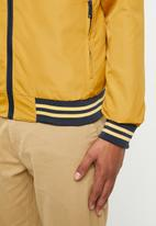 Brave Soul - Rojo bomber jacket - yellow & navy