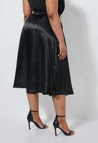 Superbalist - Slit detail slip skirt - black