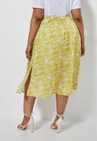 Superbalist - Slit detail slip skirt - yellow & white