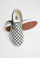 Vans - Classic Slip-On - (checkerboard) forest night/true white