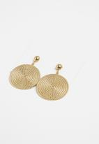 STYLE REPUBLIC - Tribal disk earrings - gold