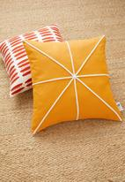 Sixth Floor - Fracture cushion cover - mustard