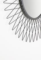 Sixth Floor - Wire mirror - black