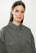 Missguided - Co ord twill oversized shirt - khaki