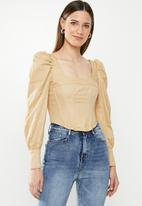 Missguided - Square neck corset style top - neutral