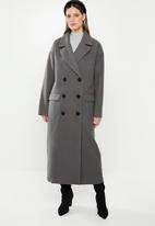 Missguided - Oversized double breasted coat - grey