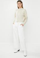 Missguided - Funnel neck crop jumper - cream