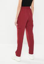 Missguided - Pocket utility cargo trousers - red