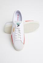 PUMA - Basket - puma white-whisper white-high risk red