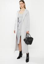 Missguided - Long sleeve maxi duster coat - grey