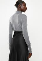 Vero Moda - Milda long sleeve roll neck - grey