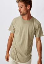 Cotton On - Longline curve hem burnout tee - blair green