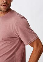 Cotton On - Longline curve hem burnout tee - pink