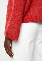 ONLY - Jeana polo pullover wool knit - multi
