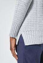 Superbalist - Slouchy v - neck pullover - grey