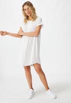Cotton On - Tina T-shirt dress - white