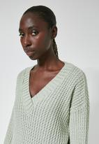 Superbalist - Slouchy v - neck pullover - green