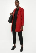 ONLY - Beatrice long wool coat - red
