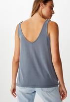 Cotton On - Tia scooped high low tank top - grey