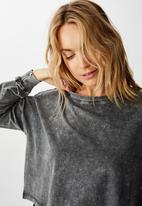 Cotton On - Harris crew neck long sleeve top - charcoal
