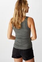 Cotton On - The rewind tank top - charcoal