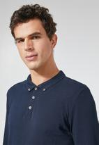 Superbalist - Pique slim fit golfer - navy