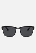 Emporio Armani - Rectangle frame sunglasses  - black