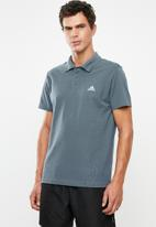 adidas Performance - Adidas short sleeve polo - blue