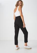 Cotton On - Ava tapered pants - black