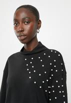 Jacqueline de Yong - Terra long sleeve high neck sweat - black