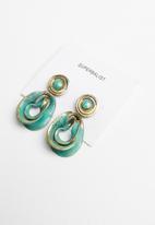 Superbalist - Hunter abstract stud earrings - green