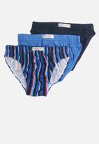 Jockey - 3 Pack fancy boys skants - blue & navy