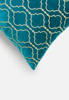 SF Collection - Chrissie cushion cover - teal