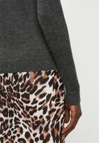 Jacqueline de Yong - Birdie long sleeve pullover - grey