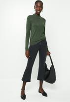 Jacqueline de Yong - Birdie long sleeve pullover - green