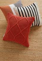Sixth Floor - Ivy knit cushion cover - orange