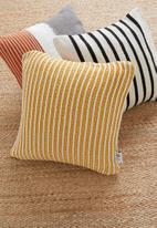 Sixth Floor - Casper knit cushion cover - yellow