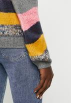 Jacqueline de Yong - Iris long sleeve stripe pullover knit - multi