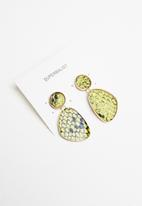 Superbalist - Snakeskin earrings - green & black