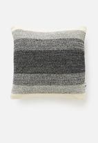 Sixth Floor - Yule knit cushion cover - black & cream