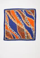 Superbalist - Vintage chain neckerchief - navy & orange