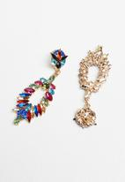Superbalist - Multi-stone statement earrings - multi