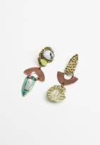 Superbalist - Lexi abstract earrings - multi