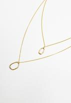 Superbalist - Multi-layer pendant necklace - gold