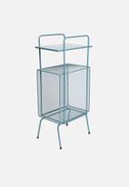 Sixth Floor - Macy mesh side table - grey blue
